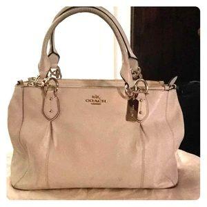 Authentic Coach white leather purse